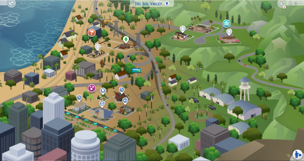 Overview of The Sims 4's Del Sol Valley